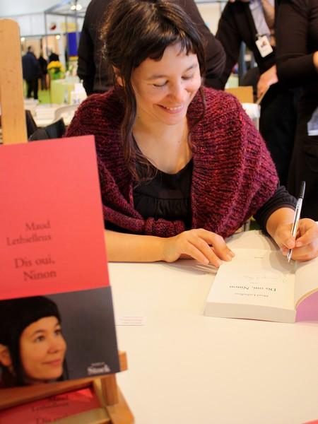 Maud Lethielleux au Printemps du Livre 2009 de Montaigu