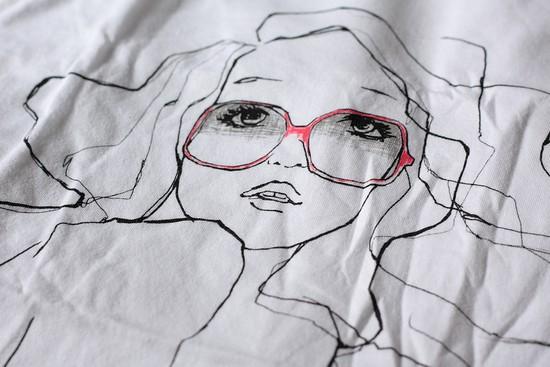 tshirt garance doré pour gap - red glasses