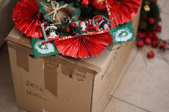 on remballe les décos de Noël