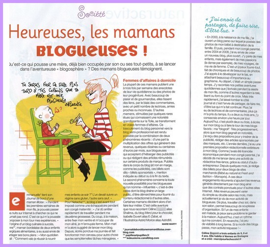 article enfant magazine - mars 2010