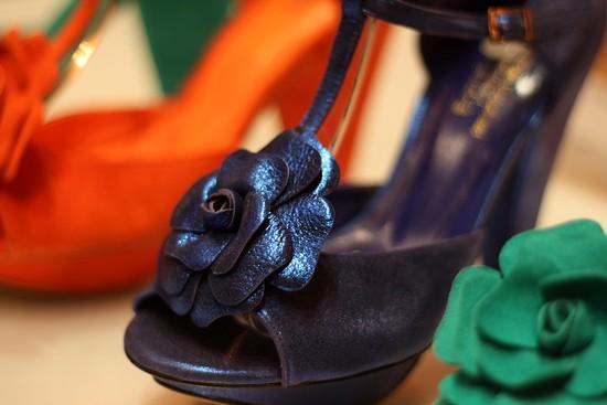 salomés André - modèle Violette bleu métallisé