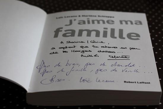 dédicace J'aime ma Famille - Marlène Schiappa et Loïc Lecanu