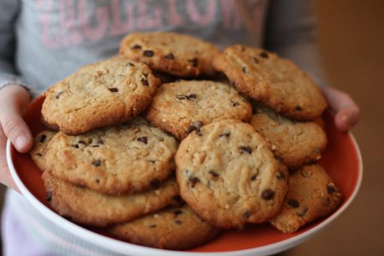recette cookies cacahuètes chocolat cannelle - via mercipourlechocolat.fr