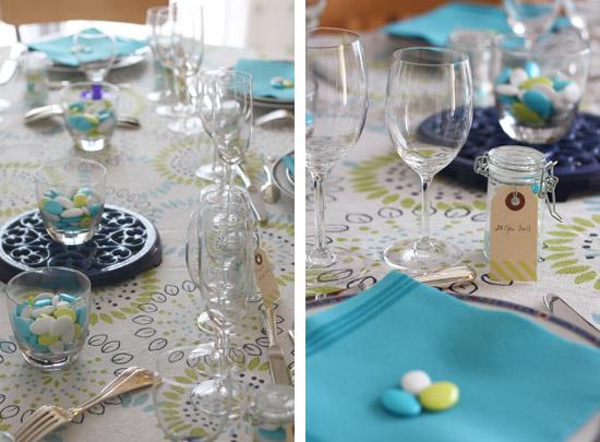 Premi re communion merci pour le chocolat - Decoration de table communion fille ...