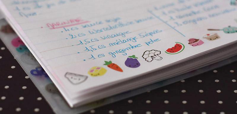 My recipe book mon carnet de recettes kawai merci pour - Ecrire un livre de cuisine ...