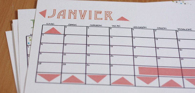 diy mon calendrier 2013 fait maison merci pour le chocolat. Black Bedroom Furniture Sets. Home Design Ideas