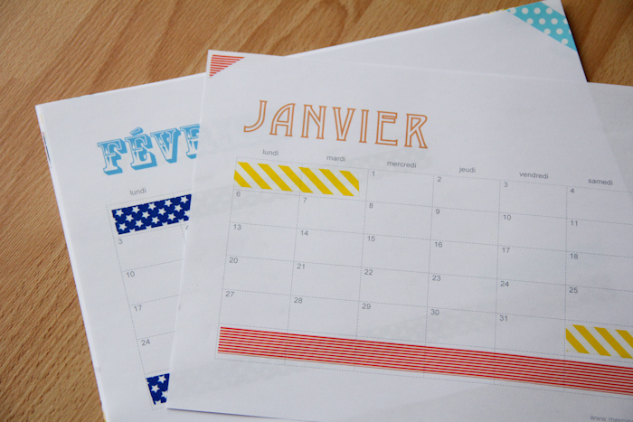 diy mon calendrier 2014 fait maison free download merci pour le chocolat. Black Bedroom Furniture Sets. Home Design Ideas