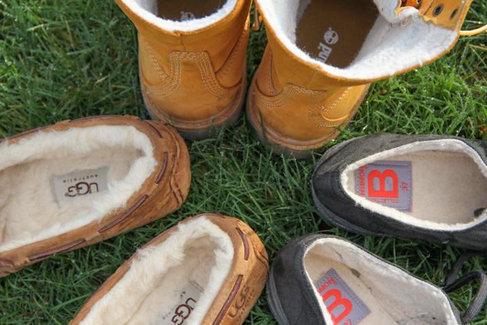 chaussures hiver fourrées