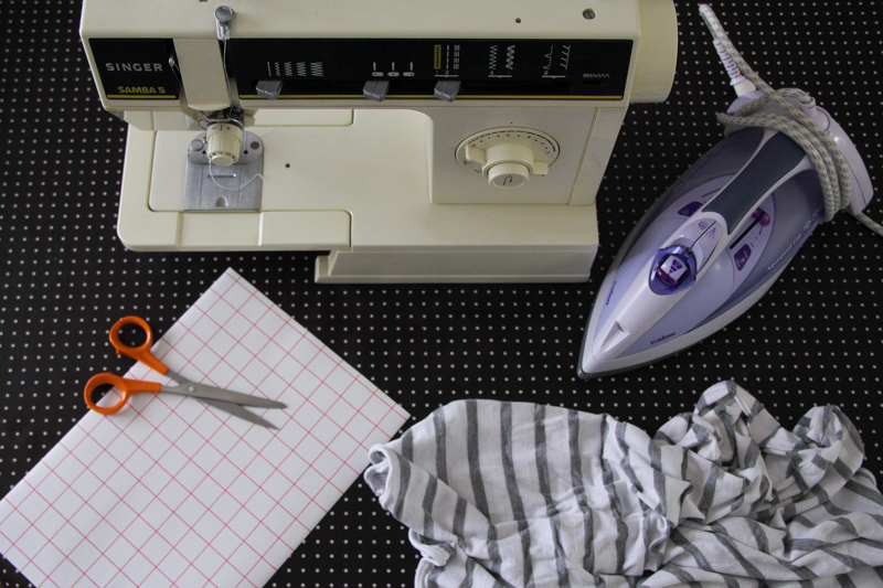 DIY mini tote bag marinière (cliquez sur l'image)