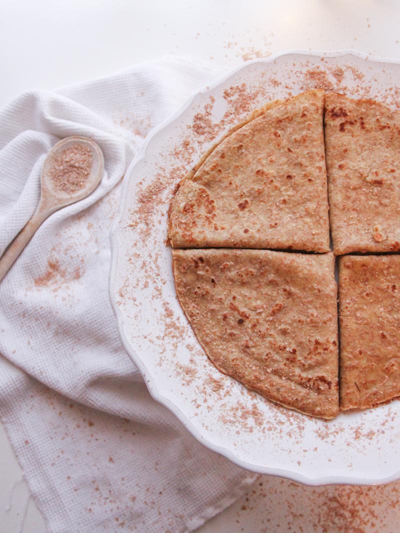 Crêpes sans beurre sans lait à l'épeautre et au son de blé (pour la recette cliquez sur l'image)