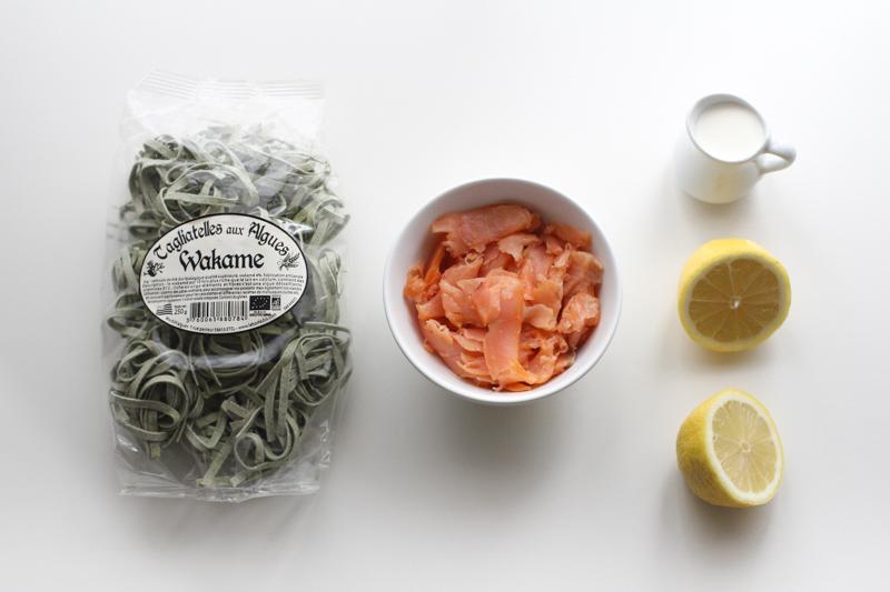 Tagliatelles wakama saumon citron (pour la recette, cliquez sur l'image)