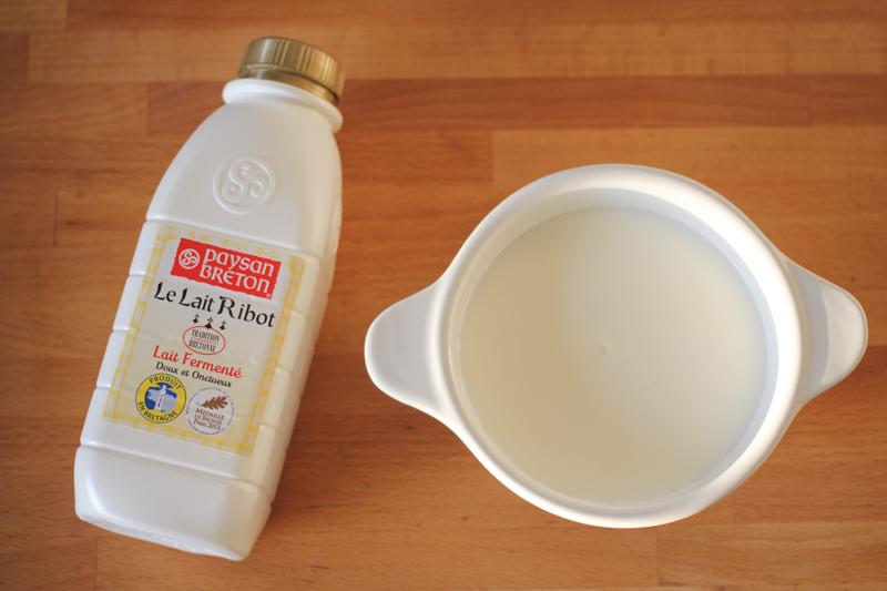 lait ribot, Bretagne
