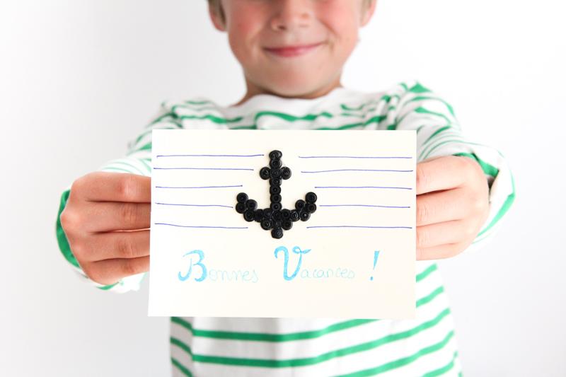 DIY carte ancre marine - cadeau pour la maîtresse