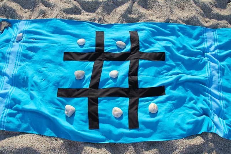DIY serviette plage jeu morpion