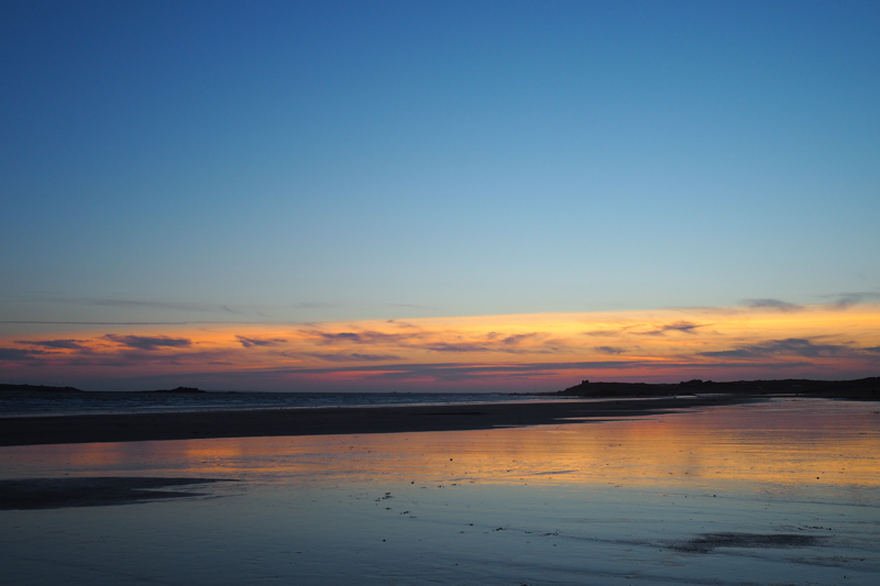 coucher de soleil plage erdeven