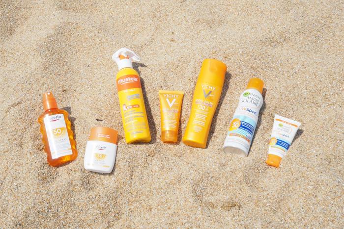 produits solaires plage