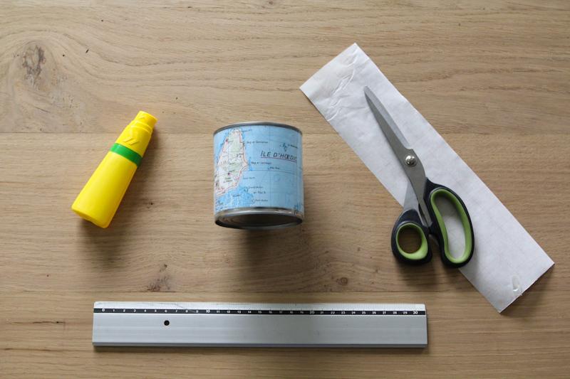 DIY pot à crayons carte de Bretagne
