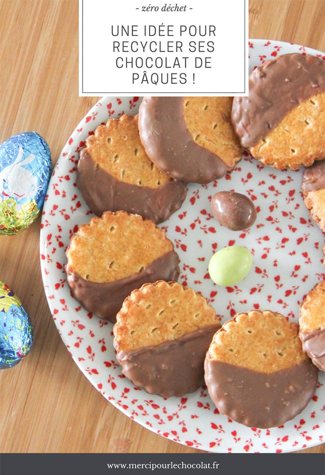 Galettes bretonnes au chocolat de Pâques - Astuce récup pour recycler ses chocolats de Pâques (via mercipourlechocolat.fr