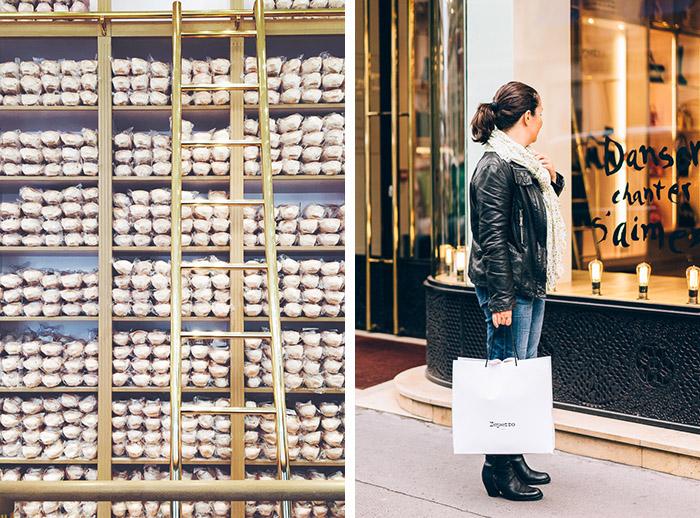 shopping boutique Repetto rue de la Paix, Paris