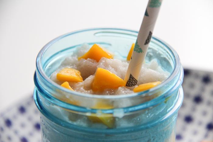 recette tapioca lait de coco mangue, façon mango sticky (via mercipourlechocolat.fr)