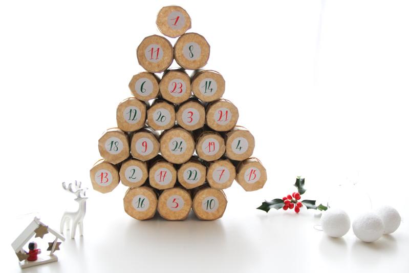 DIY calendrier de l'avent kraft & récup (via mercipourlechocolat.fr)
