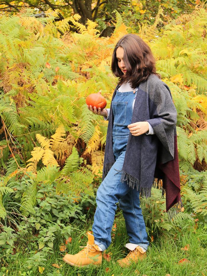 salopette et cape Boden - look automne