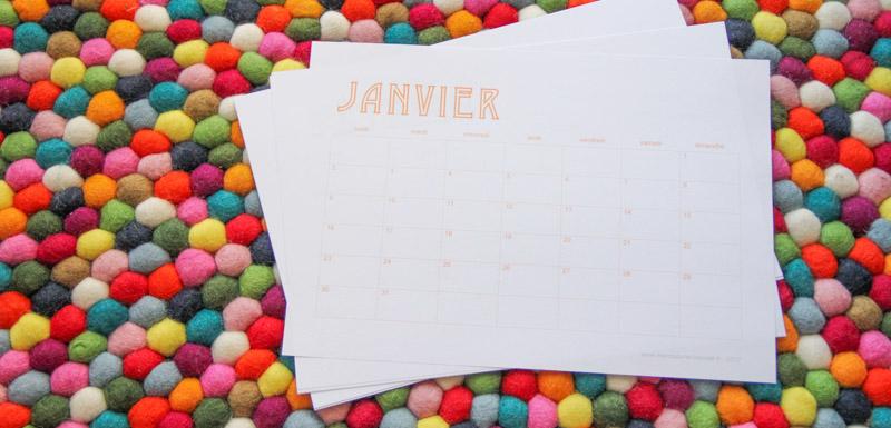 Calendrier 2017 gratuit (via mercipourlechocolat.fr)