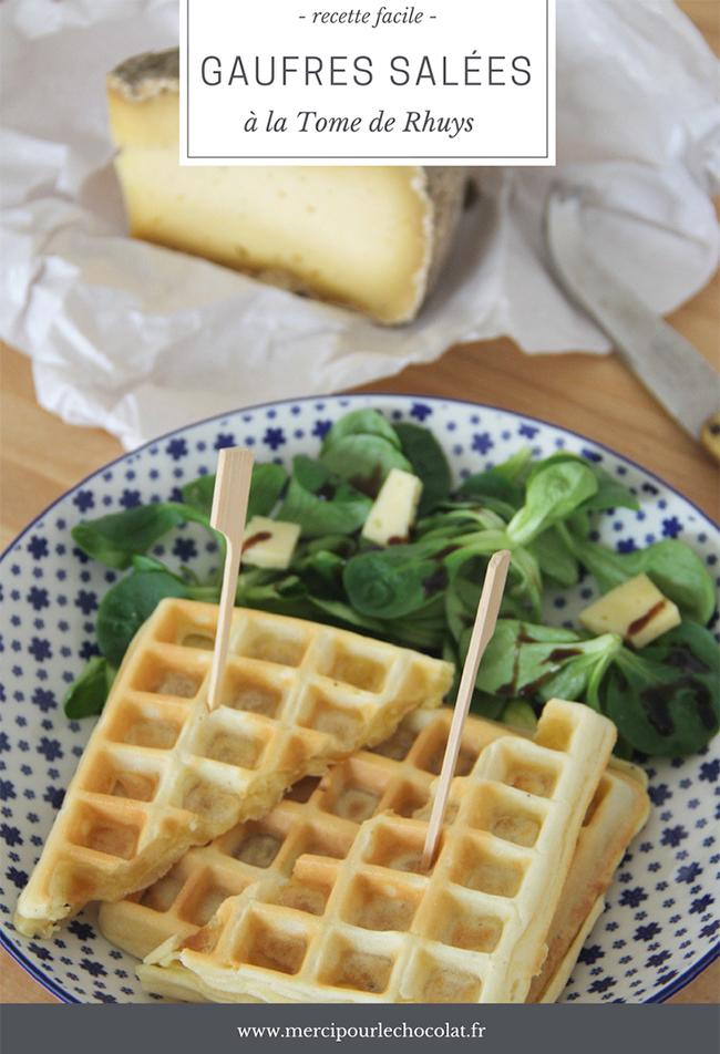 Recette facile GAUFRES SALÉES à la Tome de Rhuys (via mercipourlechocolat.fr)