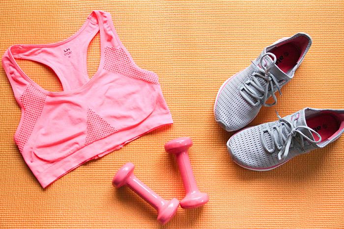 routine sport à la maison - vêtements sport La Halle