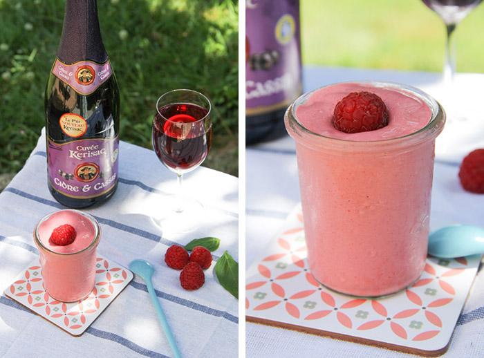 frozen yogurt framboise basilic cidre cassis merci pour le chocolat. Black Bedroom Furniture Sets. Home Design Ideas