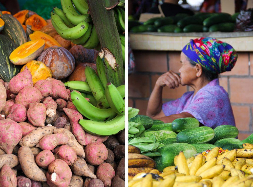 GUYANE - marchés de Cayenne et Cacao