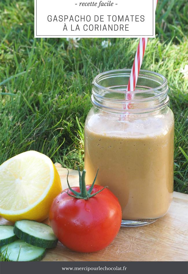 GASPACHO DE TOMATES À LA CORIANDRE - recette facile au SuperBlender KitchenAid