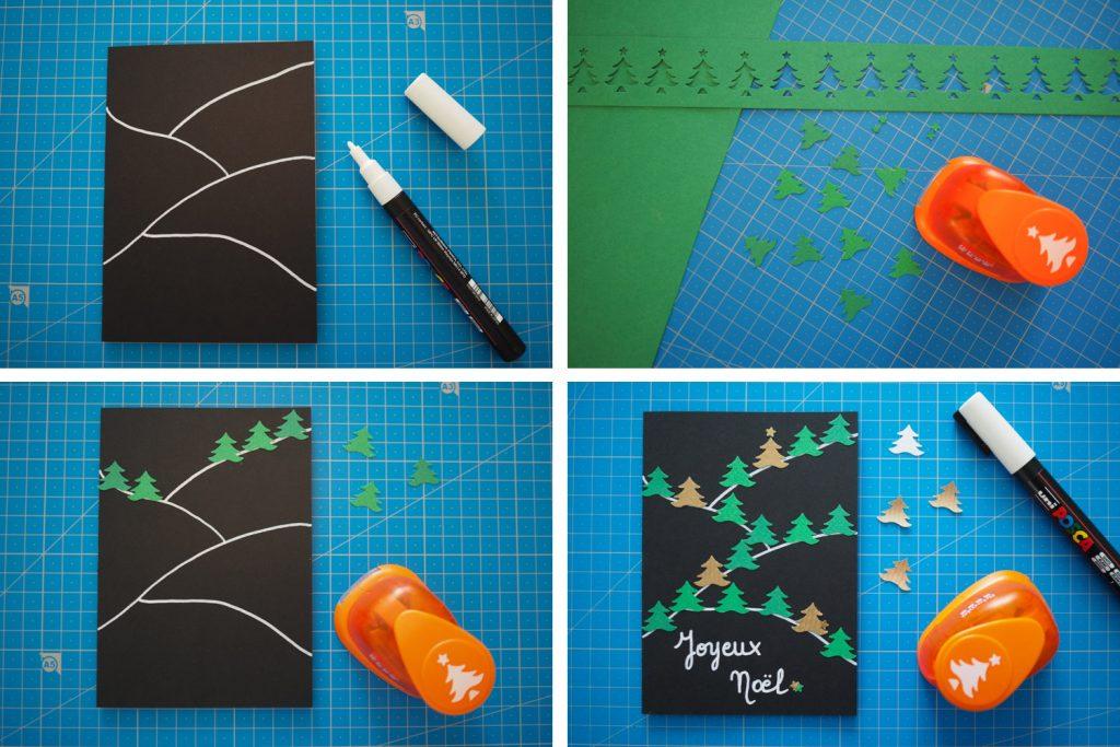 DIY - carte voeux noel sapin fait maison (via mercipourlechocolat.fr)