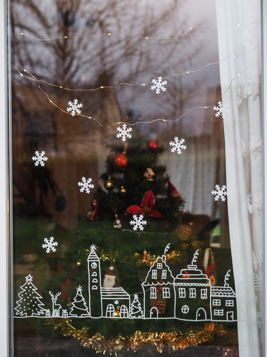 Décoration fenêtre Noël