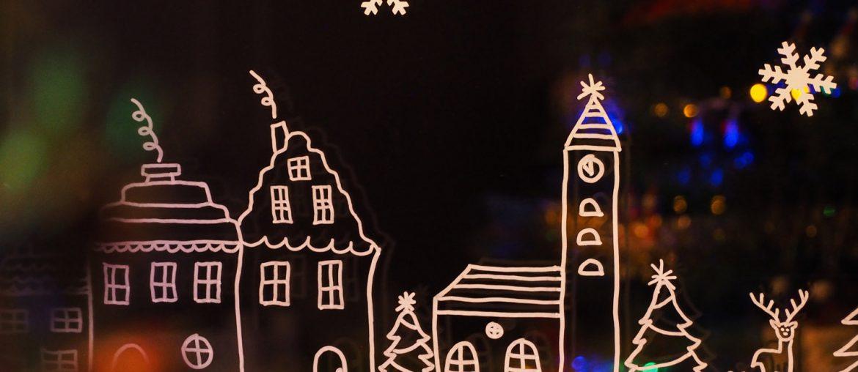 DIY – le petit village de Noël sur ma fenêtre