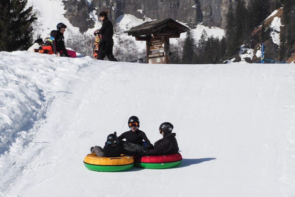PASSY PLAINE JOUX - luge bouée snowtubbing