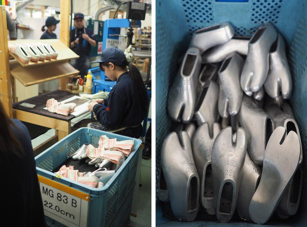 Tabi / chaussures de ninja MARUGO - usine de Kurashiki