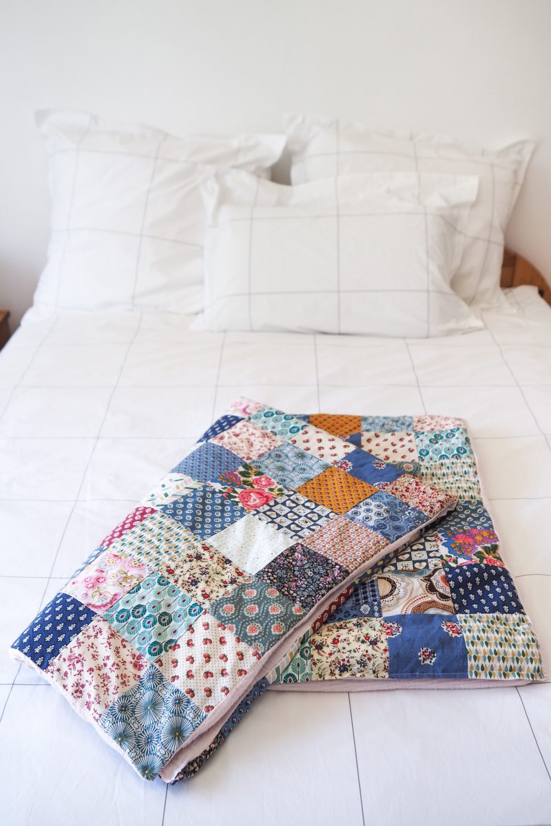 DIY - plaid / édredon patchwork cousu main