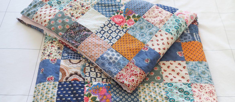 Mon plaid / édredon en patchwork cousu main