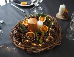 DIY - déco de table nature pour Noël (via mercipourlechocolat.fr)