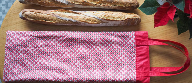 Un sac à pain en coton enduit