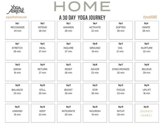 HOME - 30 days of yoga with Adriene