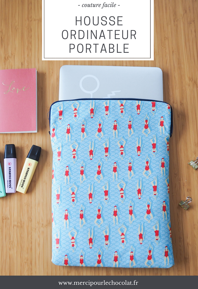 Couture facile - housse MacBook Air (via mercipourlechocolat.fr)