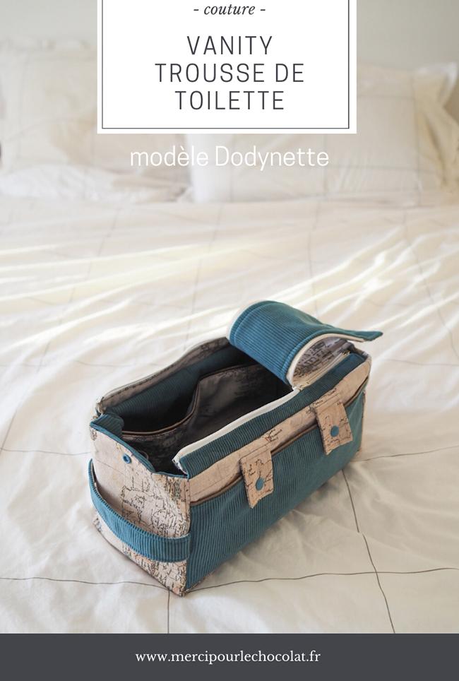 DIY couture : Vanity trousse de toilette Dodynette - via mercipourlechocolat.fr