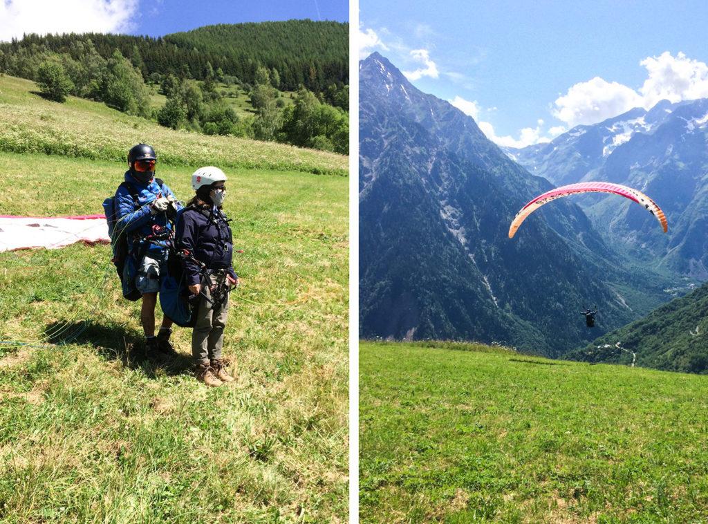 Les 2 Alpes - vol en parapente