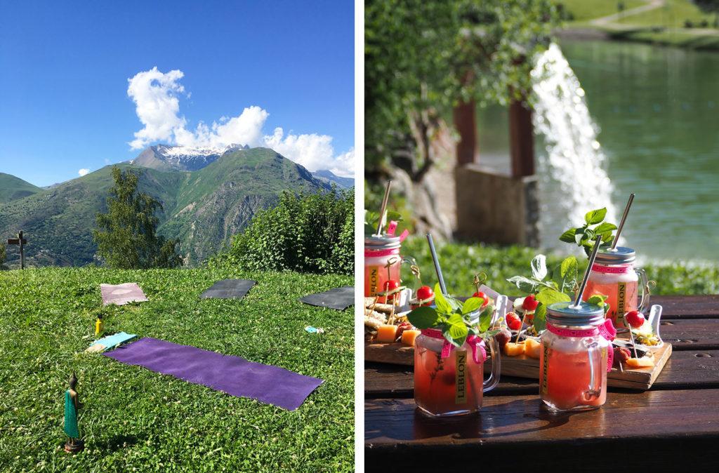 Les 2 Alpes - yoga en plein air - Lac de la Buissonnière