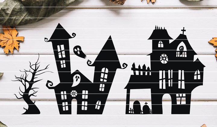 CRICUT MAKER - HALLOWEEN déco paper art maisons hantées DesignBundles (via mercipourlechocolat.fr)