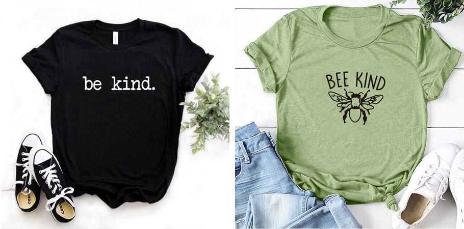 CRICUT MAKER - BE(E) KIND inspiration flex tshirts (via mercipourlechocolat.fr)