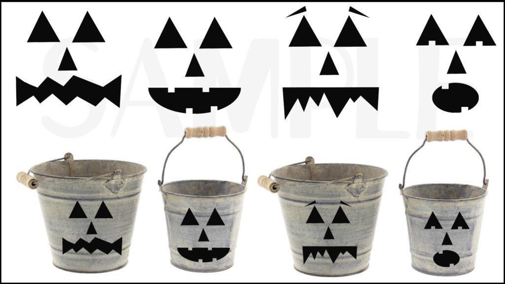 CRICUT MAKER - HALLOWEEN déco paper art Jack o Lantern faces DesignBundles (via mercipourlechocolat.fr)