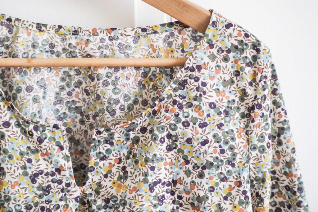 Couture facile - blouse en Liberty (patron Self Tissus via mercipourlechocolat)